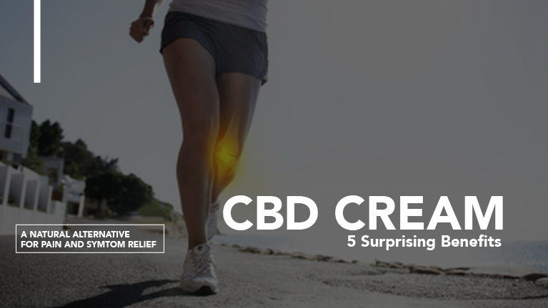 Runner with CBD cream text