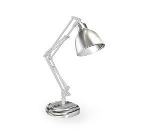 slider revolution - silver lamp